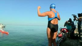 Diana Nyad faces the Florida Straits