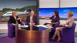 Cheryl Gillan, Sir Menzies Campbell, Jo Coburn and Tessa Jowell