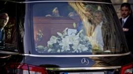 Coffin of Seamus Heaney