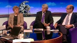Angela Eagle, Andrew Mitchell and Nick Robinson