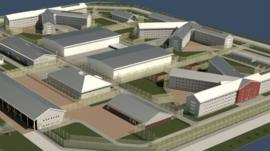 An artist impression of what the prison could look like