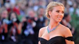 US actress Scarlett Johansson arrives for the screening of Under the Skin at the 70th Venice Film Festival