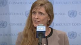 The US envoy to the UN Samantha Power