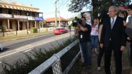 Rudd campaigning
