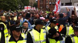 EDL supporters at the march