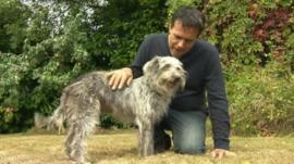 Wilma's owner John Kirby with his other dog Buffy