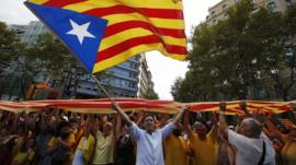 Catalans in a chain