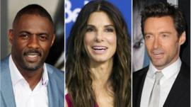 Idris Elba, Sandra Bullock and Hugh Jackman