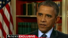 President Obama speaking on ABC News
