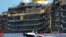 The Costa Concordia wreck