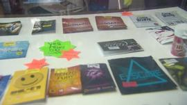 Legal highs in shop window