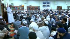 Vigil held at Leicester mosque