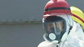 Prime Minister Shinzo Abe at Fukushima