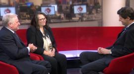 John Wriglesworth (L), Yolande Barnes & Hugh Pym (R)