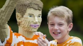 Jack Covill-Lowndes and his Lego self
