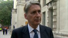 Defence Secretary, Philip Hammond.