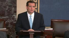 Senator Ted Cruz speaks on Senate floor