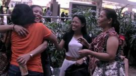 Singapore maids socialising