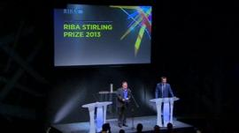 Riba President Stephen Hodder on stage