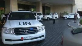UN chemical weapons inspectors in Damascus