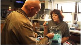 The BBC's Jonny Dymond buys Breaking Bad candy in an Albuquerque store
