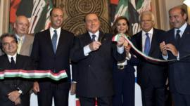 Silvio Berlusconi opening new Forza Italia HQ in Rome (19 Sept. 2013)