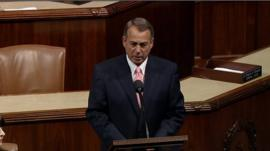John Boehner on the House floor