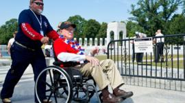 World War II veteran in Washington DC
