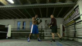Mark Prince in boxing ring