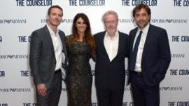Michael Fassbender, Penelope Cruz, Ridley Scott and Javier Bardem
