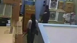 Still from CCTV footage in the mall