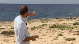The BBC's Julian Miglierini on the Lampedusa coast