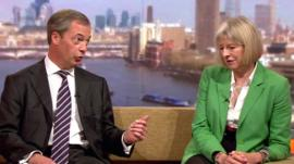 Nigel Farage and Theresa May