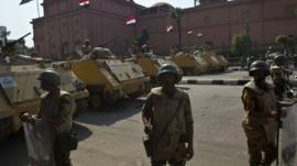 Troops on Tahrir Square