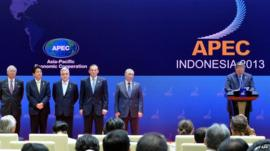 Leaders of various countries at the Apec summit