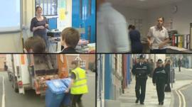 Montage of council services