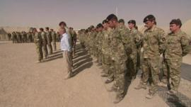 Desert Rats at Camp Bastion in Helmand province