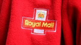 Royal Mail logo on jacket