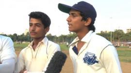 Cricket fans in Mumbai