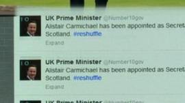 Tweets from the prime minister's account