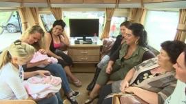 Travellers in a caravan