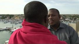 Nigerian migrant speaks to the BBC's Kasim Kayira