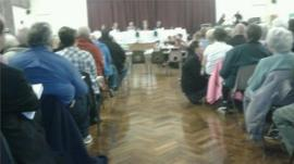 Council meeting at Patchway Community College