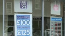 Signs advertising loans