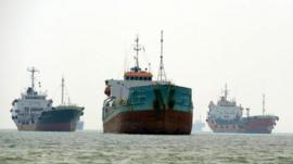 Ships in Malaysia's Port Klang