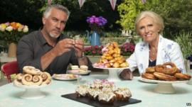 Great British Bake Off judges Paul Hollywood and Mary Berry