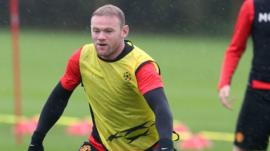 Wayne Rooney training for Manchester United