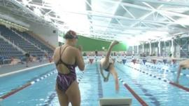 The Wales National Pool in Swansea with Paralympic hopefuls training