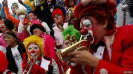Clowns in Mexico City