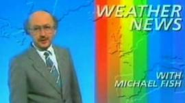 Still image from Michael Fish's infamous 1987 weather report